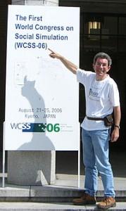 Nigel Gilbert at WCSS2006, Kyoto, Japan 2006