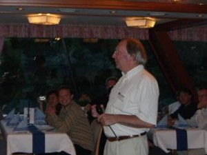 Klaus G. Troitzsch giving a speeck at the ESSA Conference 2005 social dinner