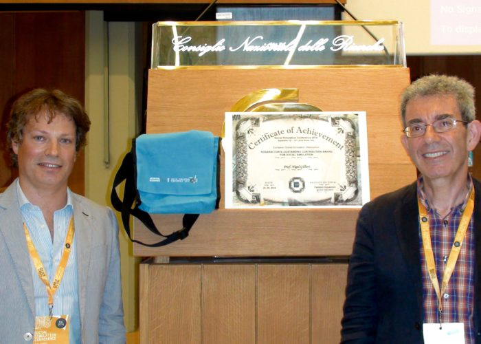 Prof. Nigel Gilbert with the ESSA President, Flaminio Squazzoni, Rome, 21 Sept 2016